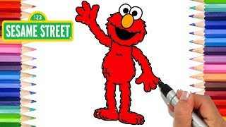 How to Draw Elmo | Coloring Pages for Kids | Learn to Draw