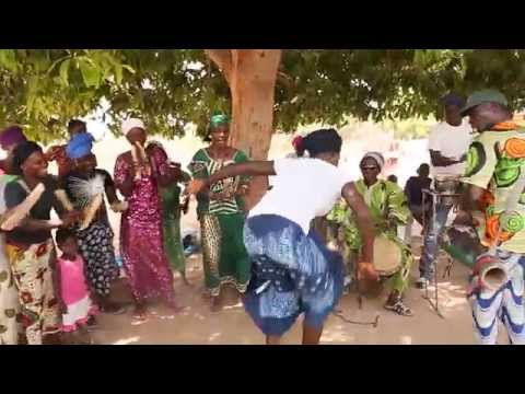 Gambian dancing at Ndenbam  - a Joller village in The Gambia