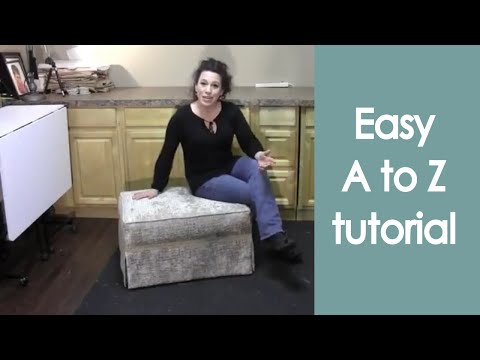 Reupholster an Ottoman with piping (how to) - Renee Romeo