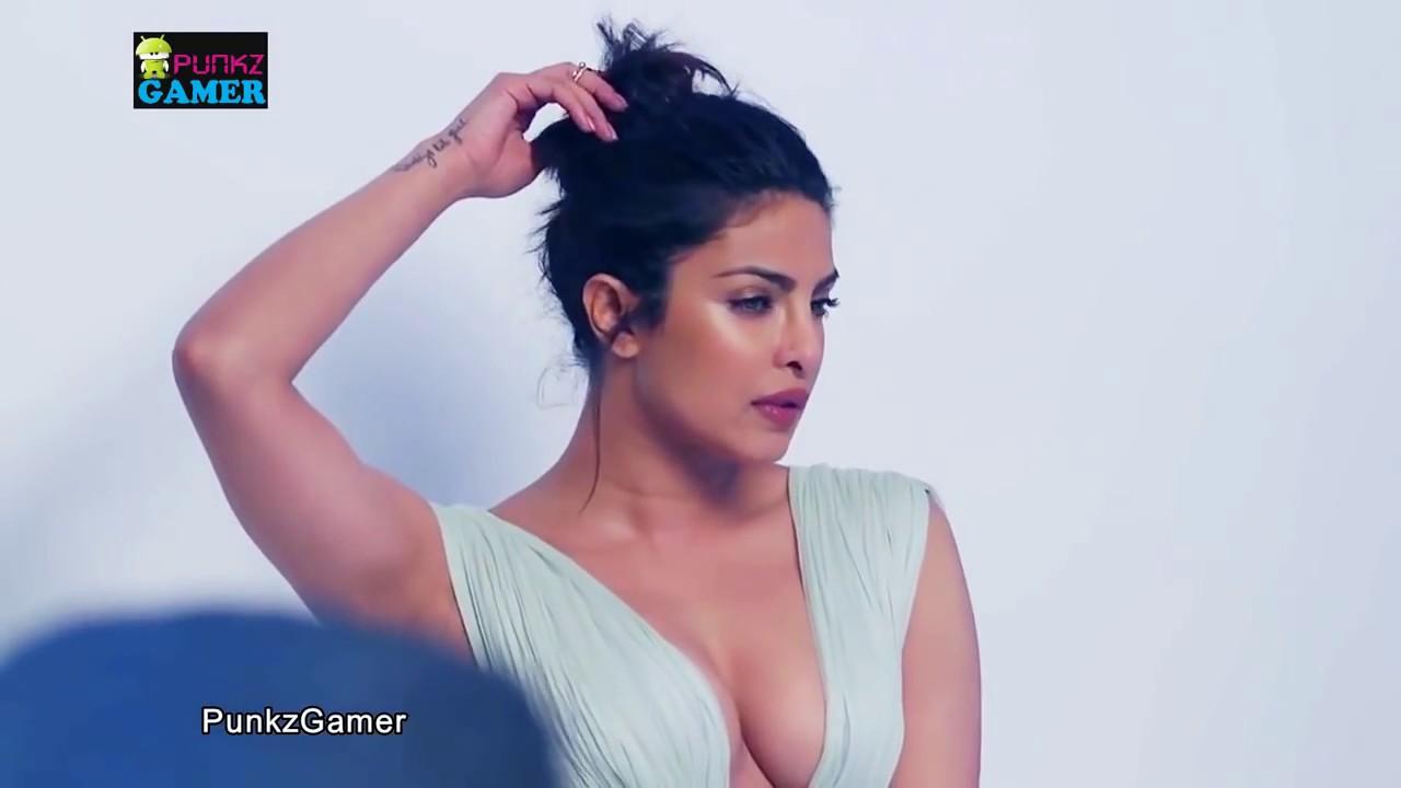 priyanka chopra's hot sweaty cleavage photoshoot latesthd hd - youtube