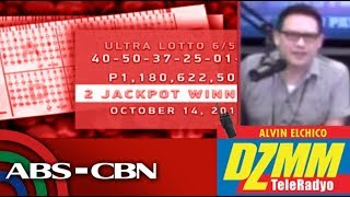 DZMM TeleRadyo: P472-M lotto winner umutang ng pamasahe para makubra ang premyo