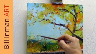 Art Class Oil Painting Demo Sunny Day Aspen Trees - Muncie, Indiana