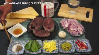 Tuna Steaks Cooked In Coconut Milk & Lime Leaves Recipe Asian How To Cook Great Food