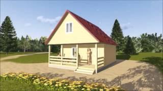 Баня из бруса под ключ(Так мы прорабатываем индивидуальные проекты деревянных домов. Подписывайся на наш канал ▻ https://goo.gl/VMAl7C..., 2015-10-30T08:15:41.000Z)