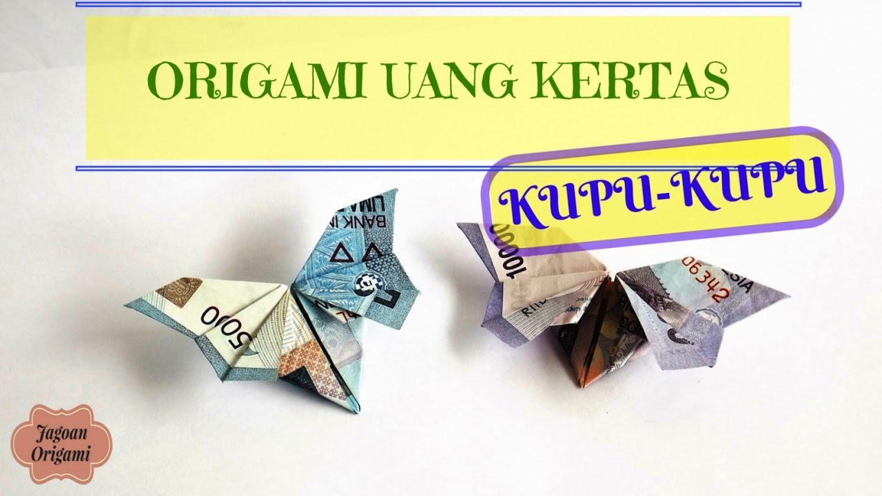 tutorial origami uang kupu kupu