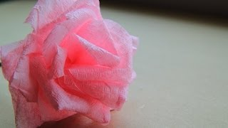 как сделать розу из салфеток видео