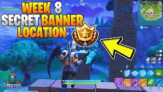 FORTNITE SECRET BANNER WEEK 8 SEASON 6 LOCATION! - Fortnite Battle Royale - WEEK 8 SECRET BANNER