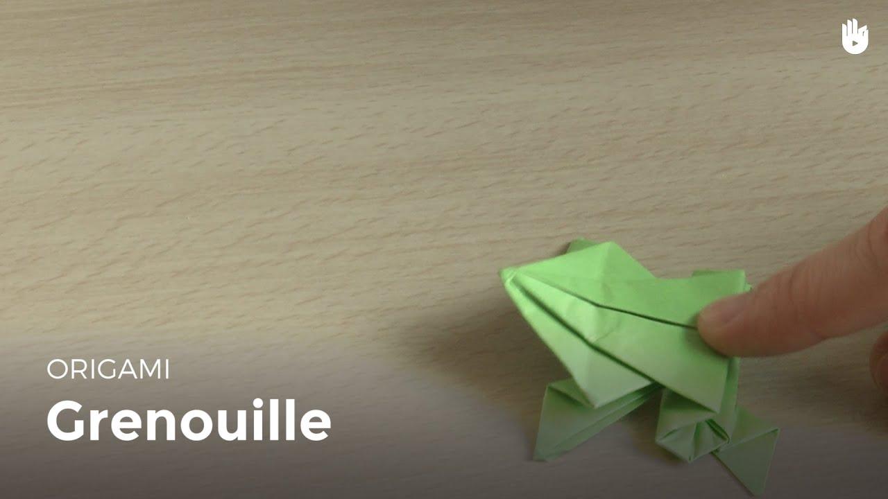 Origami grenouille en papier hd youtube - Faire grenouille en papier ...
