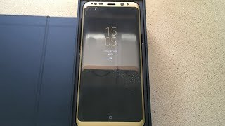 Samsung Galaxy S8/Plus Glass Screen Protector Install [Gold Color]