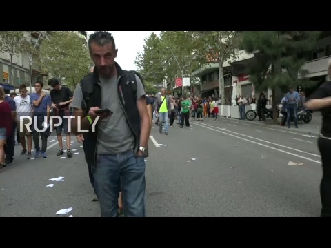 LIVE Protest against police violence hits Barcelona