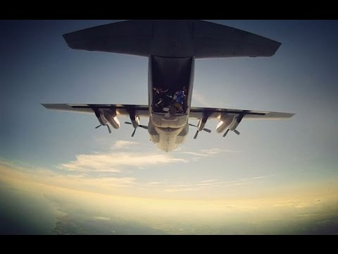 Hercules C-130 skydive, Karlsborg 2015