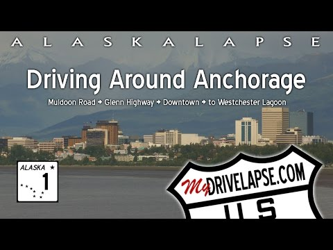 Dashcam Drive through Anchorage, Alaska - Downtown