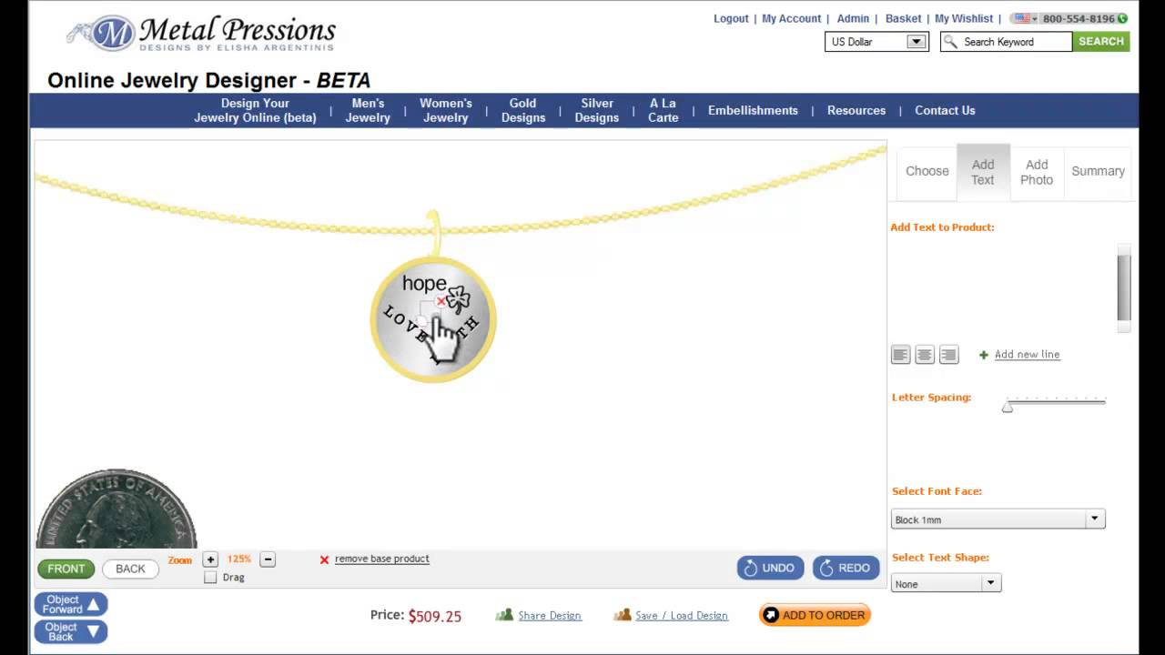 Design Your Own Jewelry Online Metal Pressions YouTube