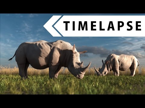 Rhino (Creature Creation 7) - Modeling, Sculpting, Texturing, Rigging (BLENDER TIMELAPSE)