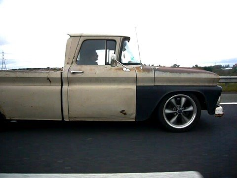 1963 Chevrolet C10 pick-up on M18 to Doncaster - YouTube