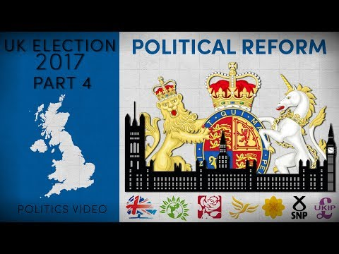 UK Election 2017 — Part 4 — How Will Each Party Reform The UK Political System?