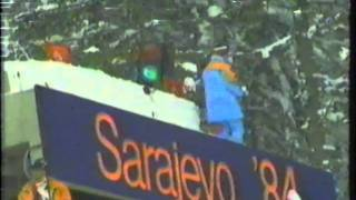 1984 Winter Olympics - 90 Meter Ski Jump Part 1