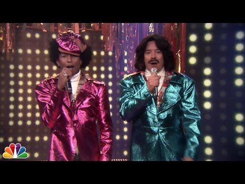 "Thumbnail: Jimmy & Pharrell's '80s R&B Duo: ""Afro & Deziak"""
