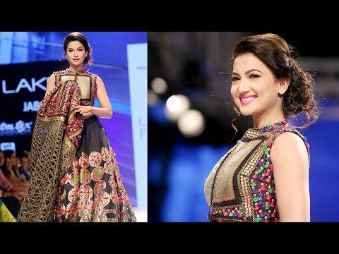 Lakme Fashion Week 2015   Gauhar Khan walks as the SHOWSTOPPER!
