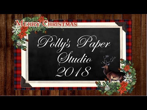 Vintage Frosty Winter Christmas Card Polly's Paper Studio Tutorial Process DIY