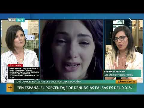 Sabrina Cartabia, abogada de Thelma Fardín, en La Nación