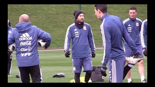 Lionel Messi trains with Argentina ahead of Italy friendly