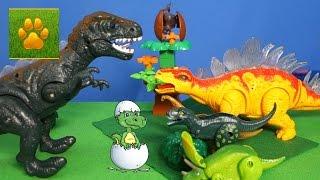 ДИНОЗАВРЫ Яйца Динозавров Игрушки Все серии подряд  Детское Видео про Динозавров для Детей Lion boy