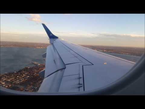Jetblue E190 Boston - New York (LGA) Takeoff + Landing
