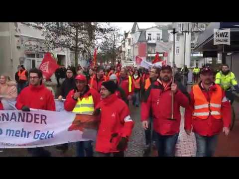 Demonstrationszug der IG Metall durch Nordenham