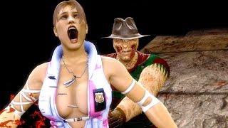 Mortal Kombat 9 - All Fatalities & X-Rays on Sonya Pink White Costume Mod 4K Ultra HD Gameplay Mods