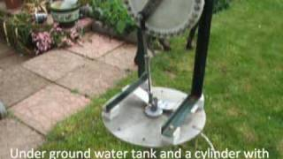 Vertical axis wind powered water pump