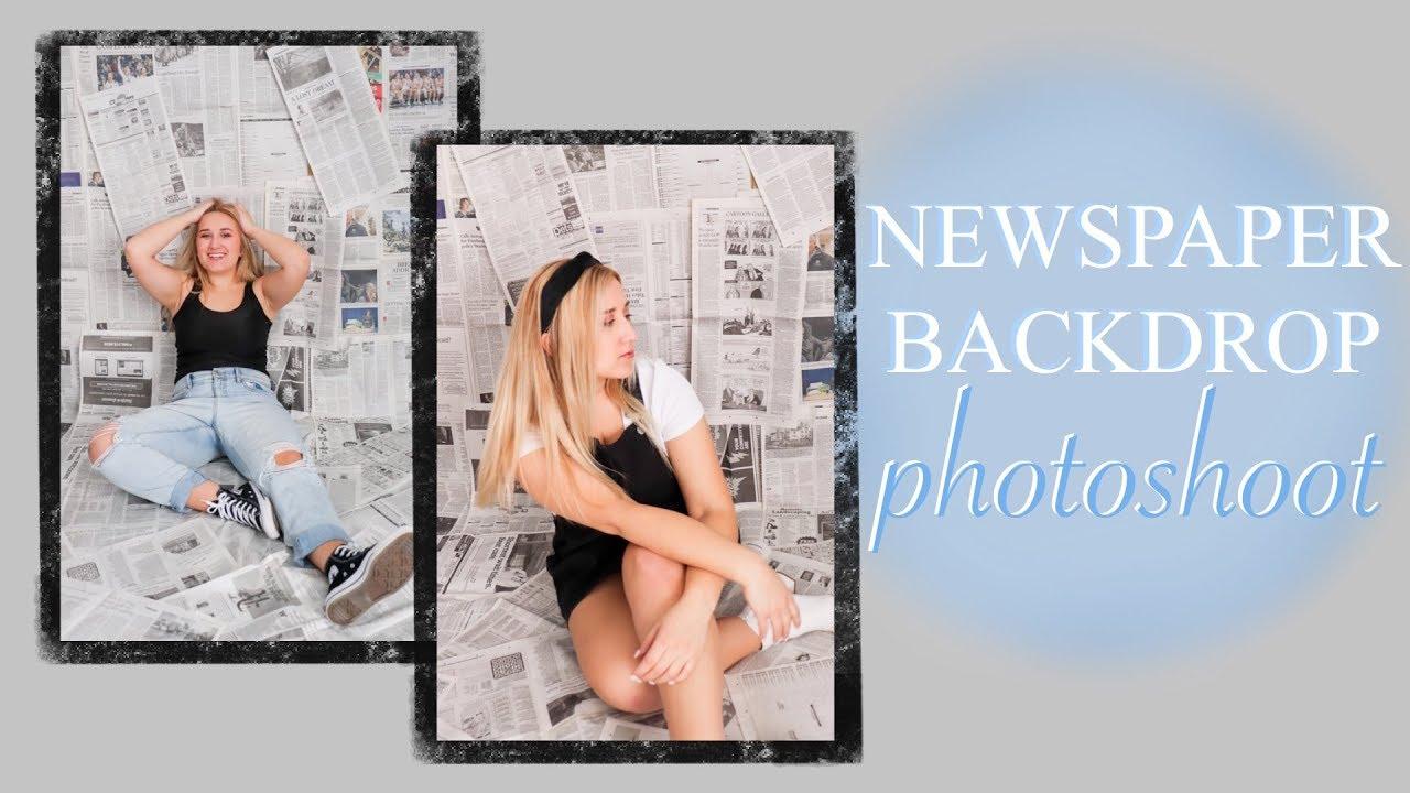 Newspaper Backdrop Photoshoot Youtube