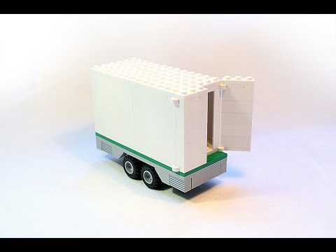 Lego Instructions How To Build Easy Lego Trailer With Opening Doors