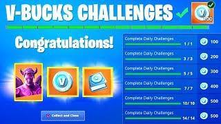 Fortnite FREE V-BUCKS CHALLENGES REWARDS! - 2000 V BUCKS, Fallen Love Ranger Skin and Back bling!