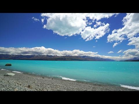 "4K ""Dazzling Blue Lakeshore"" New Zealand's Bluest Lake 1HR Nature Relaxation™ Scene"