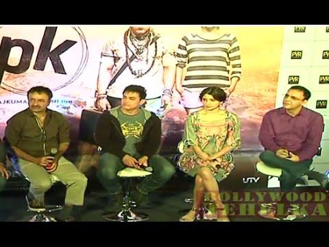 """PK"" Movie Aamir Khan and Anushka Sharma Promotional Press Meet In Hyderabad"