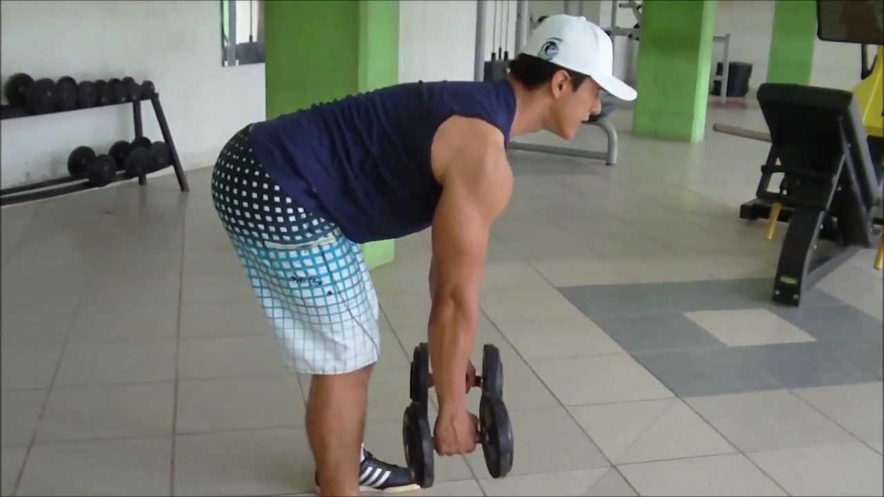 ejercicios de espalda con mancuernas sin banco