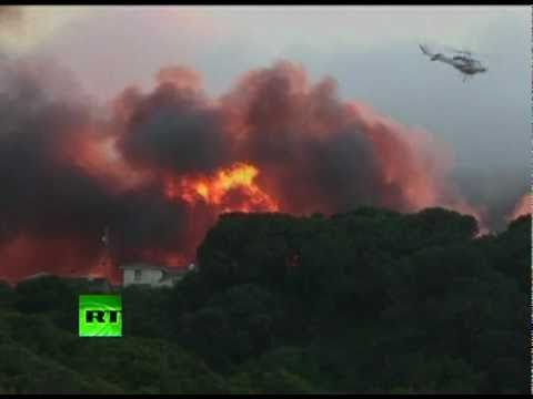 Video of San Bruno fire after gas pipe explosion in California