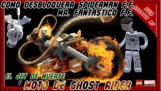 LEGO Marvel Como Desbloquear Moto de Ghost Rider, Spiderman y Mr Fantasty F.F.