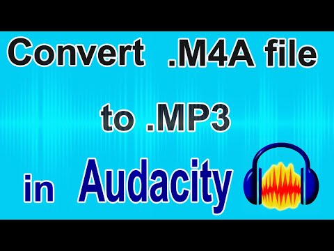 How to Convert M4A file to MP3 file in Audacity