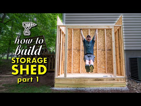 how-to-build-a-shed,-pt.-1-:-framing-the-floor,-walls-&-roof-plus-siding