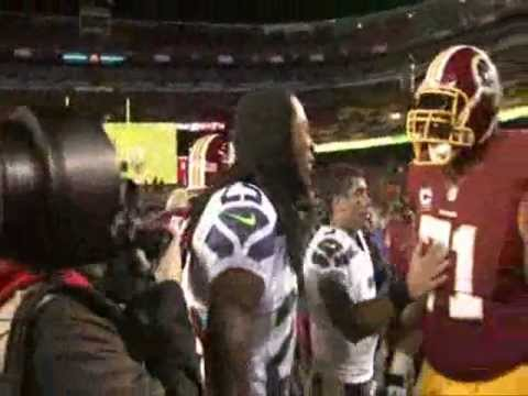 Trent Williams punches Richard Sherman in the face