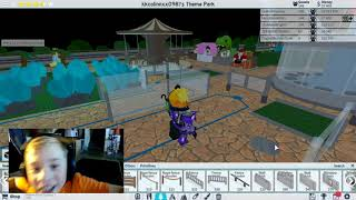 Marathon session on Roblox Theme Park Tycoon