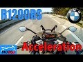 BMW R1200RS - ACCELERATION and TOPSPEED 0-240km/h