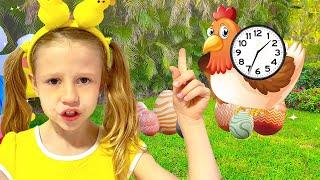 Nastya aprende de onde vêm os ovos na Páscoa, vídeo educacional para crianças