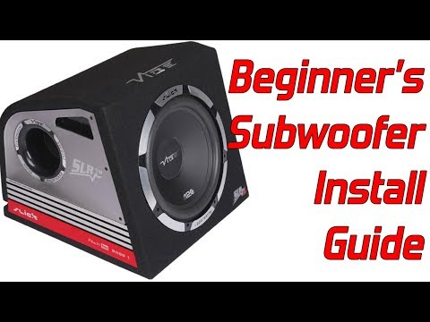 How do i hook up subwoofers in my car