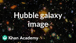 Hubble image of galaxies | Scale of the universe | Cosmology & Astronomy | Khan Academy