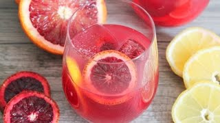 Blood Orange Champagne Punch
