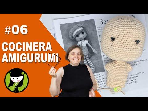COCINERA AMIGURUMI 06 cuerpo de mujer tejido a crochet