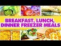 LARGE FAMILY FREEZER COOKING DAY | Breakfast, Lunch, Dinner Freezer Meals